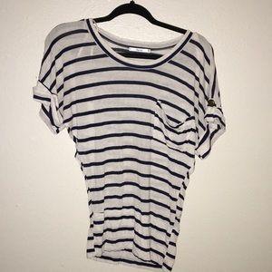 2 for $6 1-papaya striped blouse